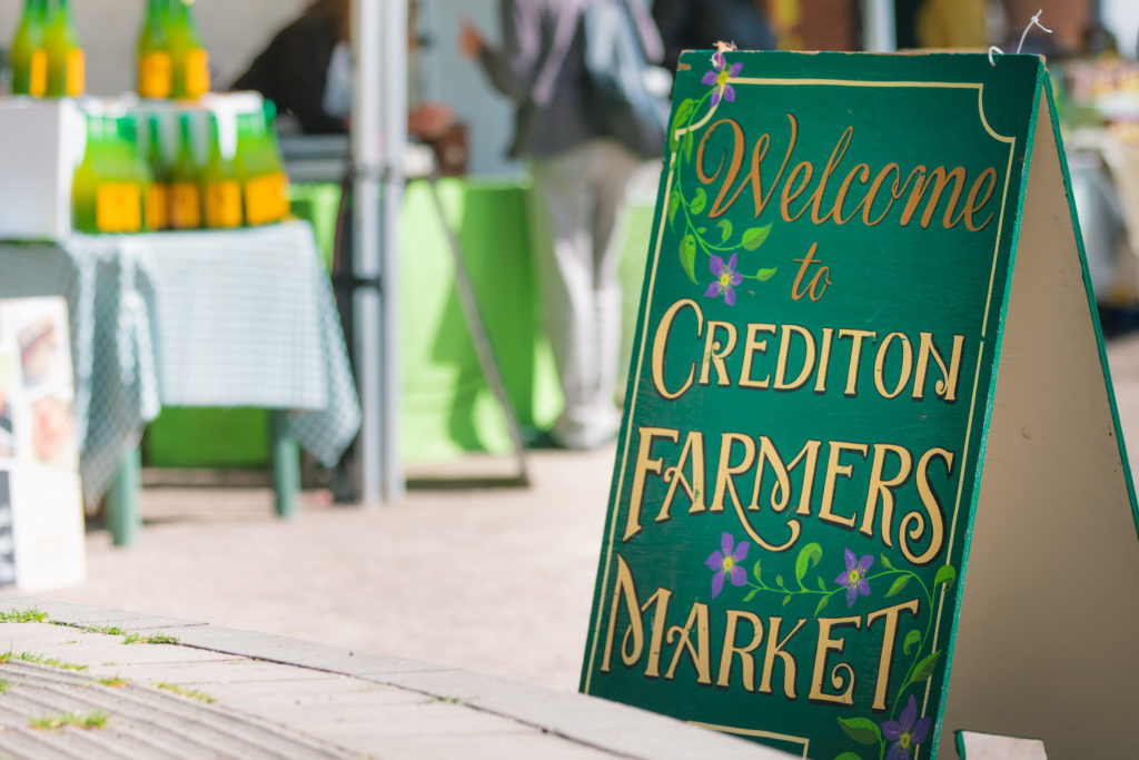 Crediton Farmers' Market Sign