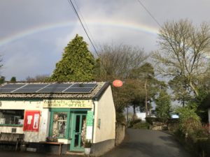 Rainbow over Kennerleigh Community Shop