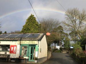 Rainbow over Kennerleigh Community Shop