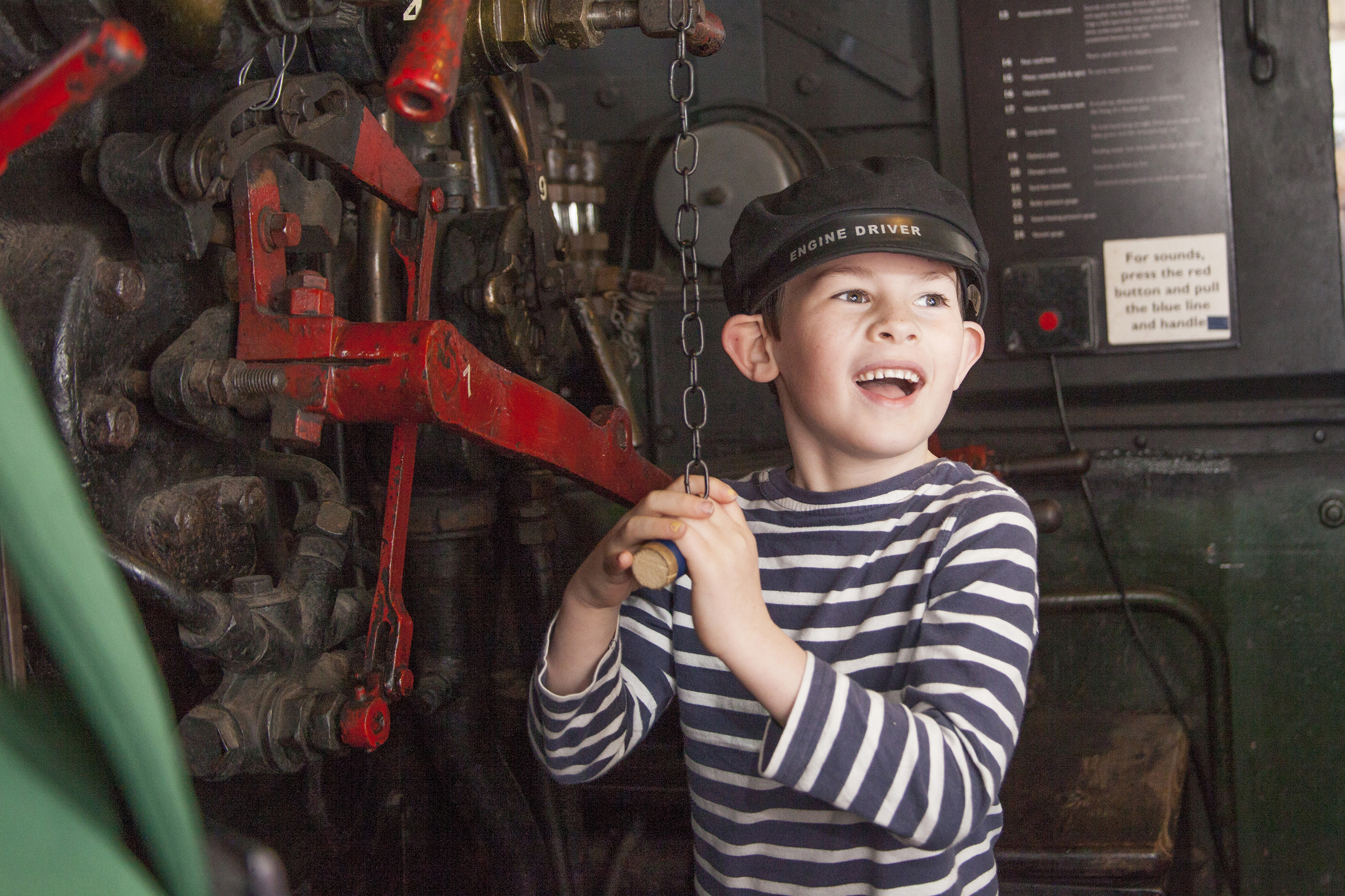 Young Train Driver at Tiverton Museum