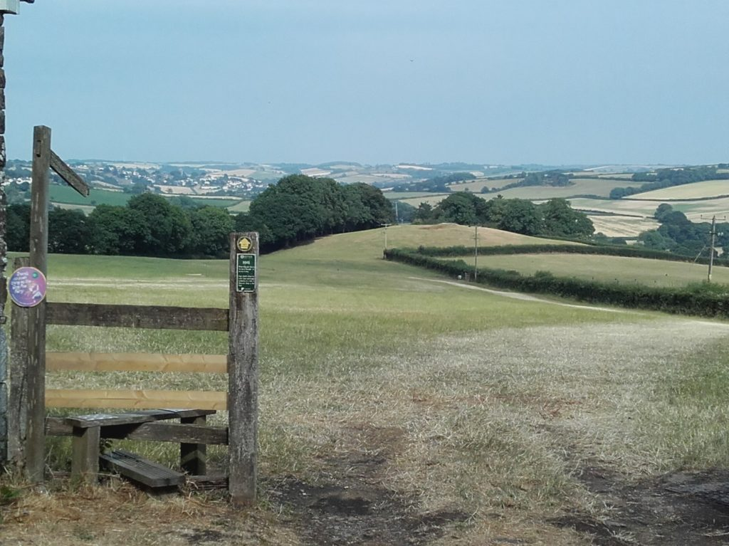 View across Church Field