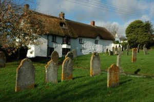 Thatched Cottage next to Church Cemetery