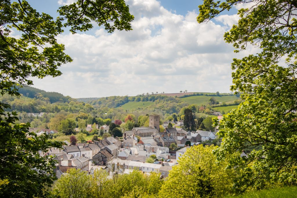 The view from Bampton Motte